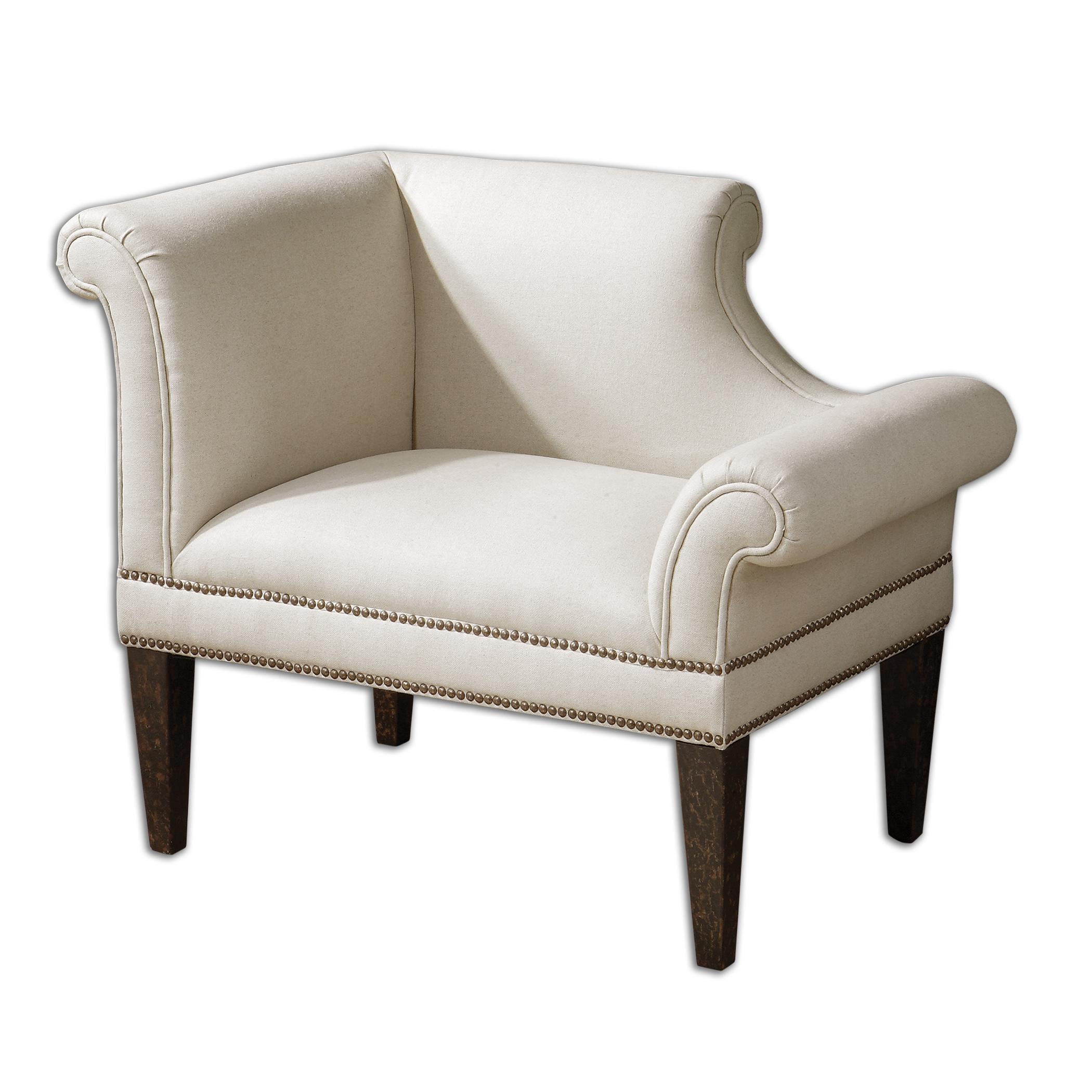 Fontaine White Linen Armchair  sc 1 st  A.Clore Interiors & Fontaine White Linen Armchair - A.Clore Interiors