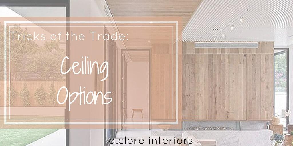 Tricks of the Trade: Ceiling Options - A.Clore Interiors
