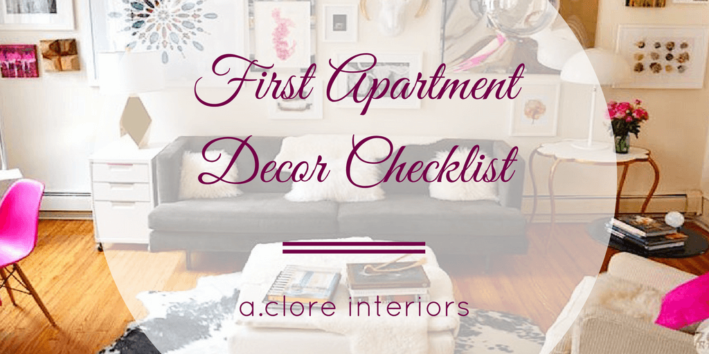 First Apartment Decor Checklist