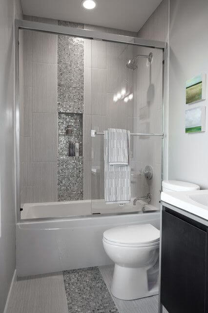 Superior White U0026 Silver Bathroom