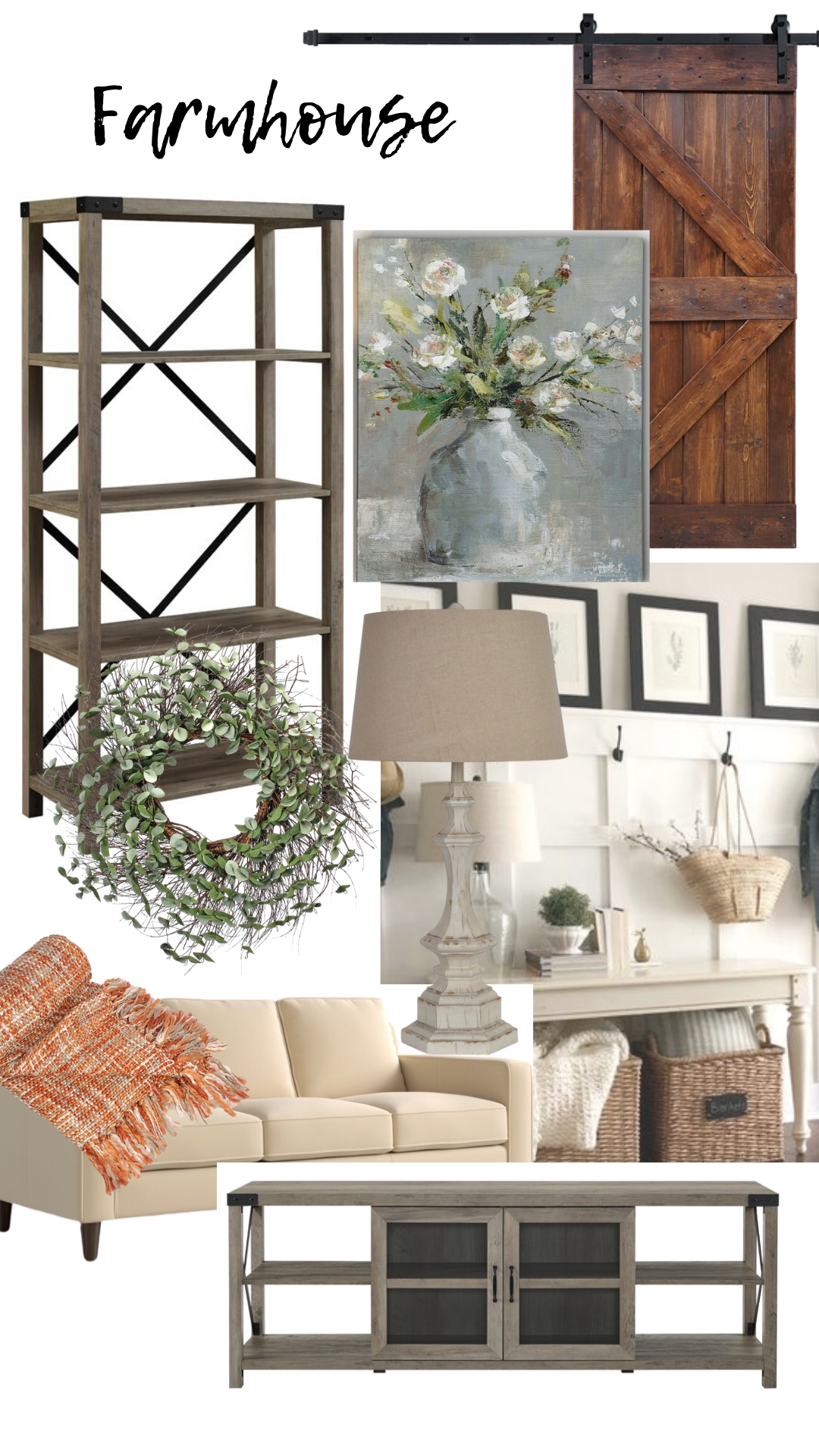 farmhouse home decor and furniture