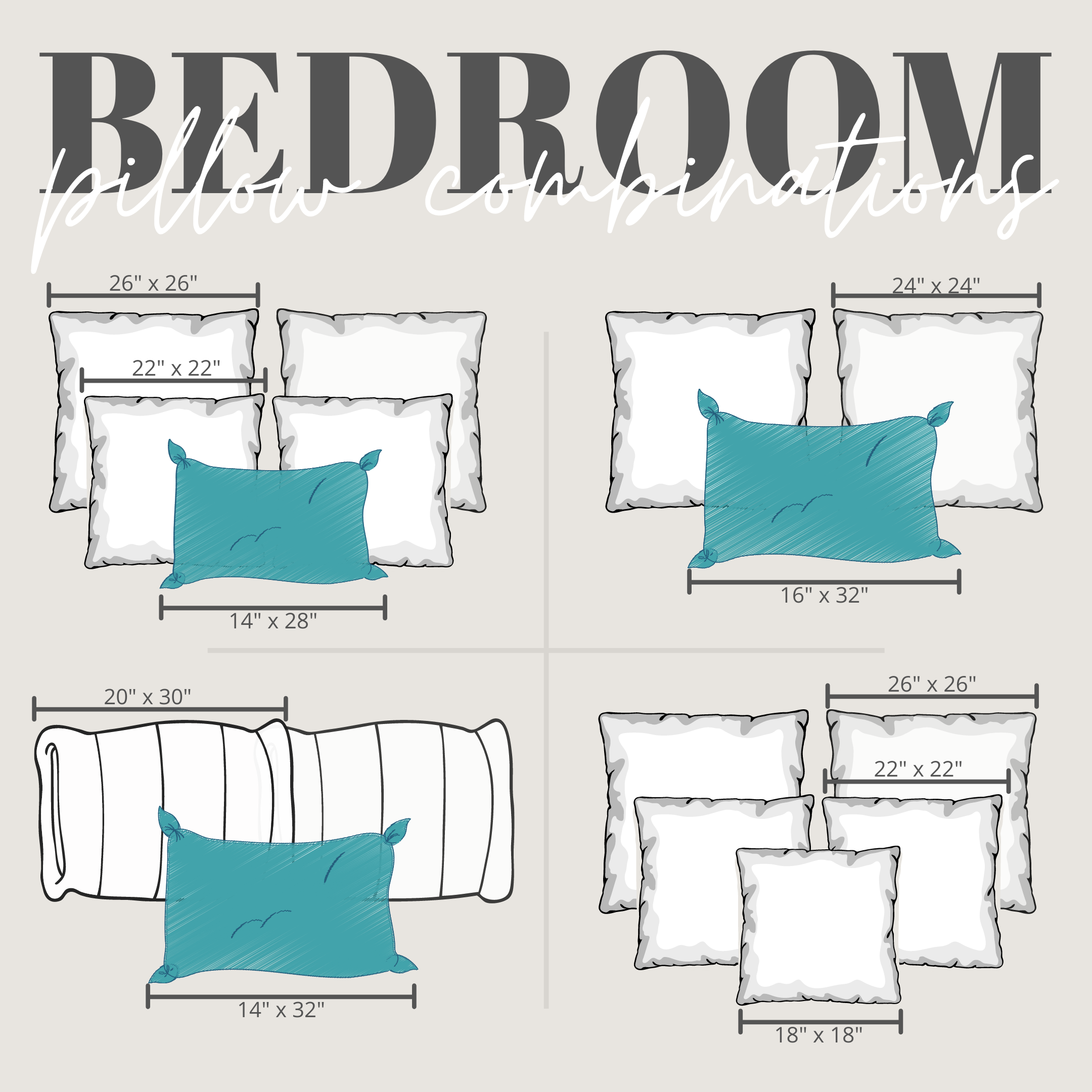 bedroom bed pillow placement