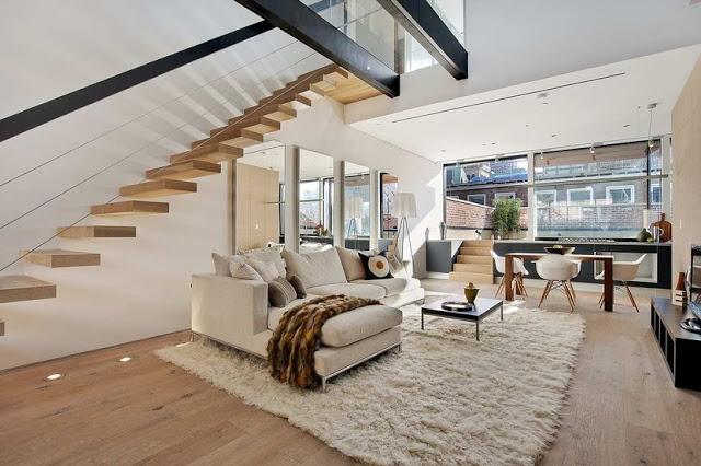 new york loft living room cococozy white