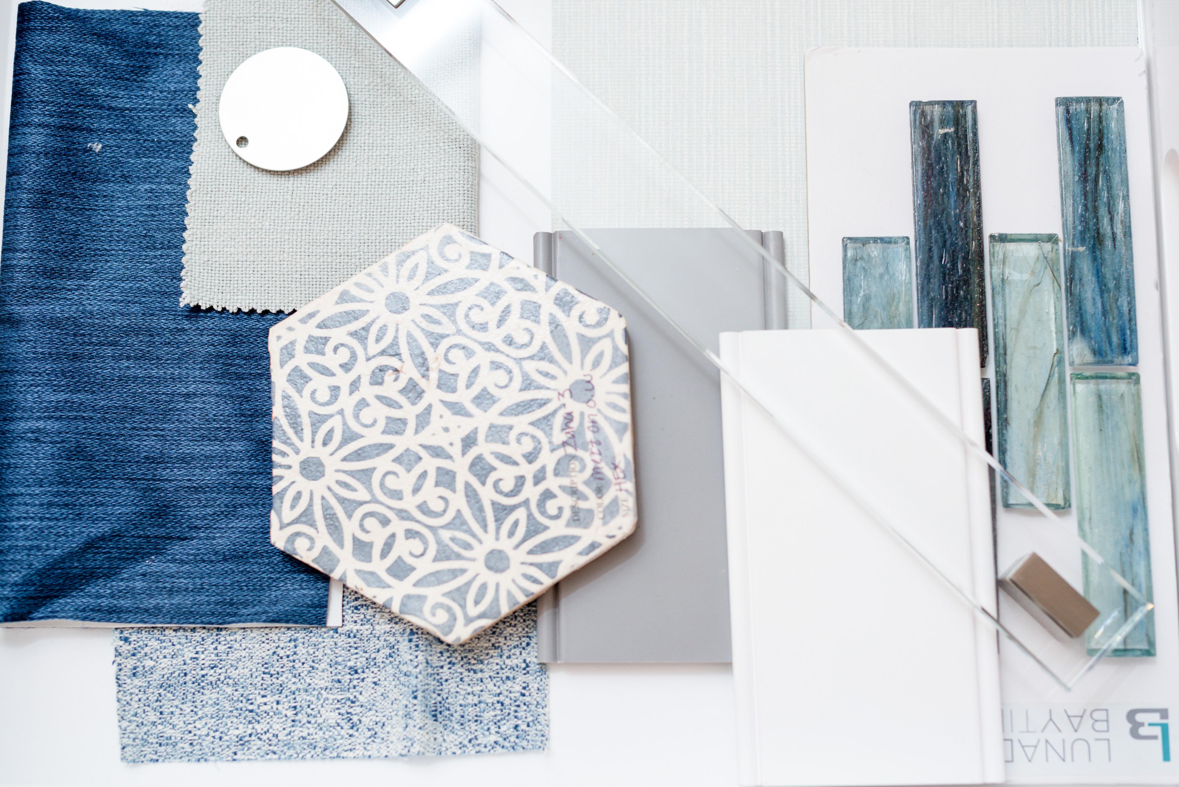 blue color scheme presentation board