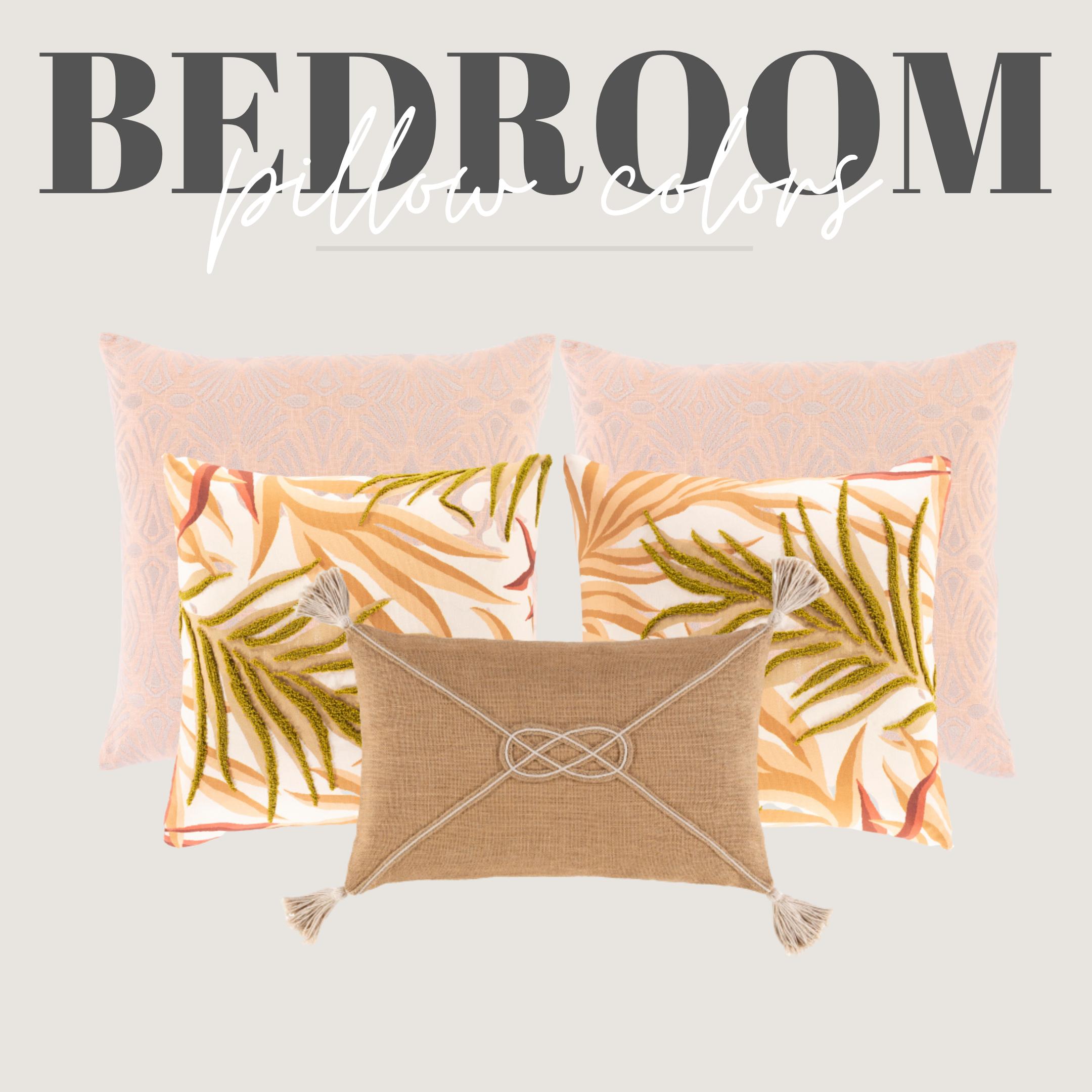 peach, beach pillows