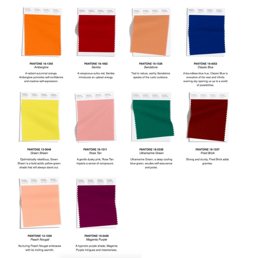 Pantone Color Theory Autumn 2020/Winter 2021